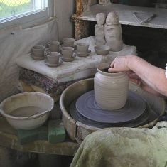 throwing an urn on the wheel
